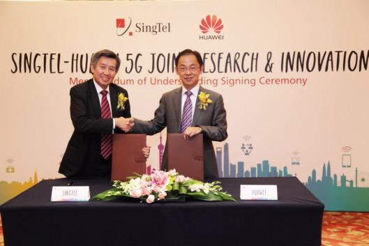 Huawei и SingTel объединились для разработки 5G для мобильных сетей