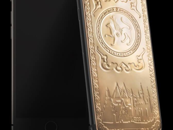 В Татарстане стартовали продажи золотого смартфона с символикой республики