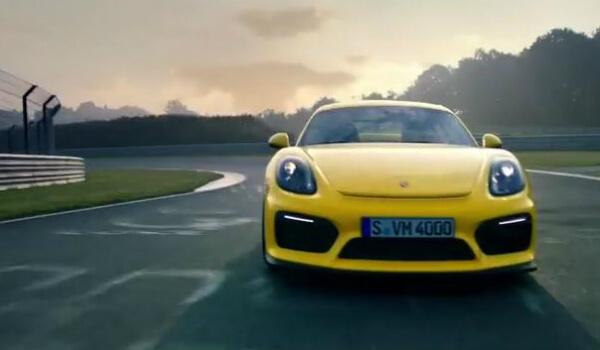 Купе Cayman GT4 во взрывном ролике Porsche