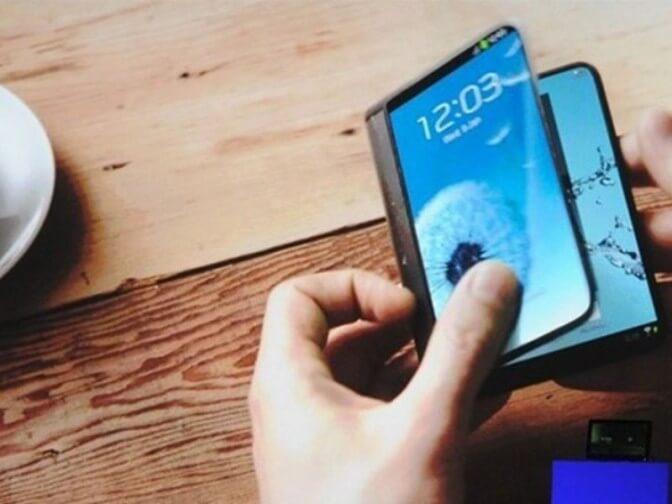 Гибкий смартфон фото