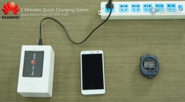 Huawei продемонстрировал аккумулятор с быстрой зарядкой