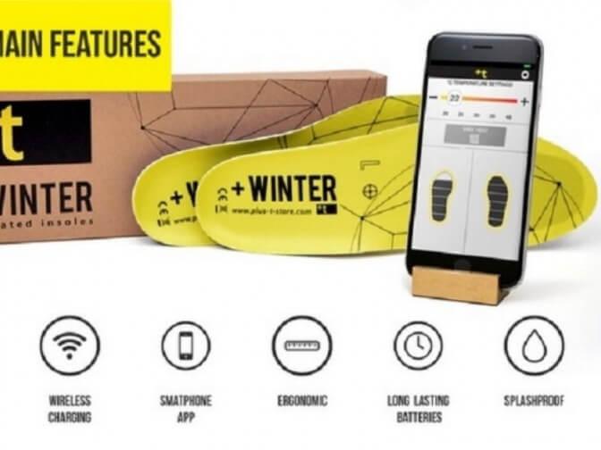 Зимние смарт-стельки с беспроводной зарядкой, Bluetooth и даже акселерометром