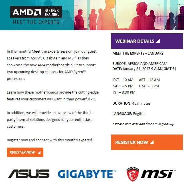 AMD предоставит информацию о матплатах для Ryzen партнерам компании из торговых сетей