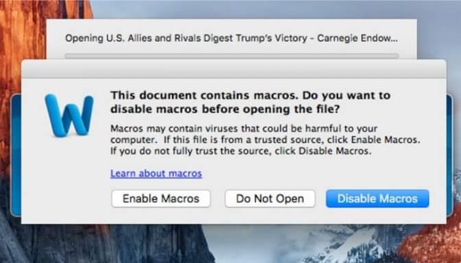 Макрос заражает макОС: троян, гнездящийся в программе Microsoft, атакует Mac-компы