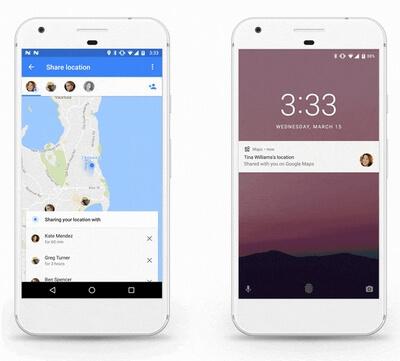 Google maps сообщит о вашем местоположении родным и знакомым
