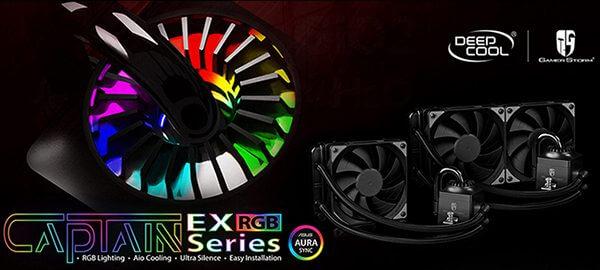 Deepcool представила необслуживаемые СЖО Captain EX RGB с разноцветной подсветкой