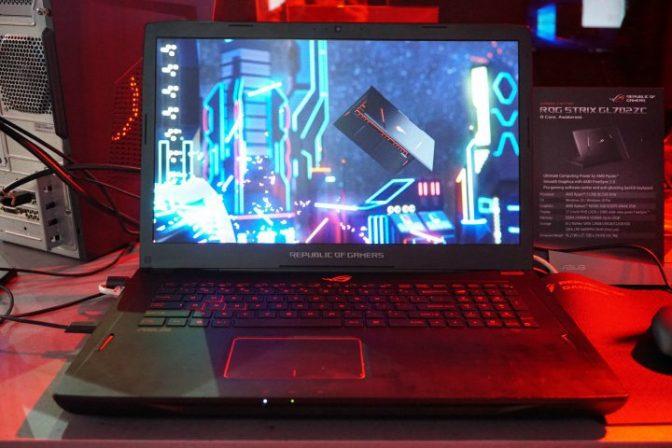 Новый игровой ноутбук от ASUS с процессором AMD Ryzen