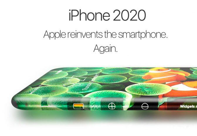 Представлен концепт iPhone 2020 с радиусным экраном
