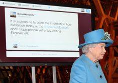 Королева Великобритании впервые написала твит